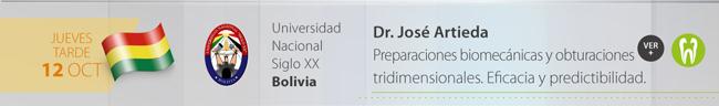 Jueves 12 por la tarde - Dr. José Artieda - Preparaciones biomecánicas y obturaciones tridimensionales. Eficacia y predectibilidad.